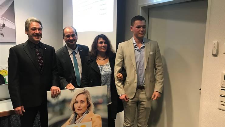 v.l.: Carsten Thürk, Roberto Conti, Stephanie Ritschard und Pascal Käser.