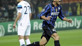 Walter Samuel (r.) brachte Inter in Führung