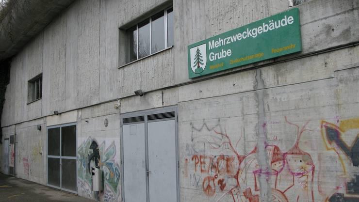 Die Zivilschutzanlage Täli befindet sich im Mehrzweckgebäude Grube