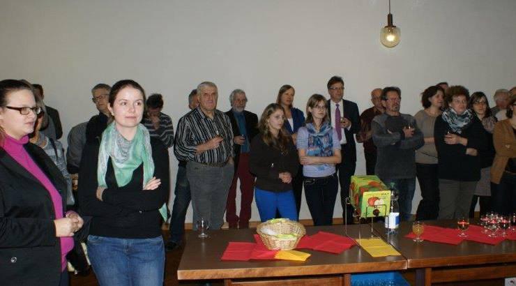 Apéro für Behörden- und Kommissionsmitglieder am Abend des Dreikönigstags.