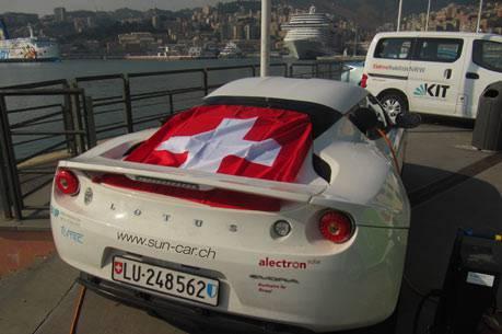 Das Team ETH Suncar in Genova