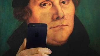Selfie mit Luther Kunst