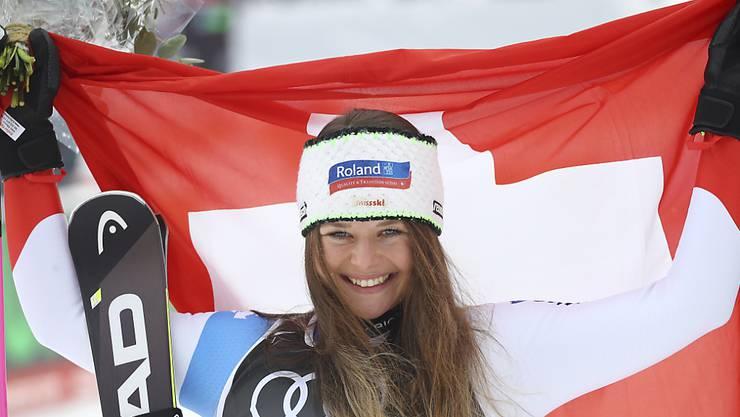 Corinne Suter sorgte an der WM für Schweizer Highlights.