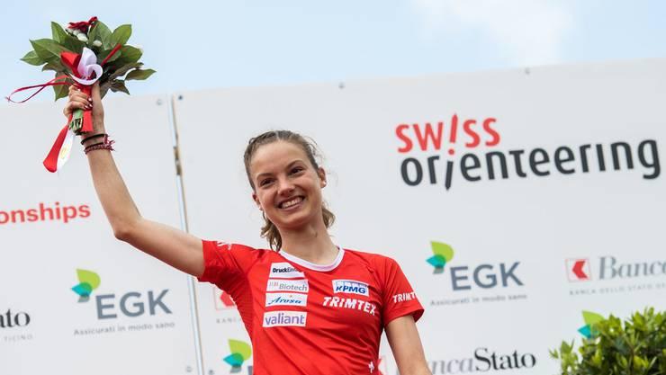 Erste WM bei der Elite und trotzdem schon Medaillenhoffnung: Simona Aebersold (Keystone)