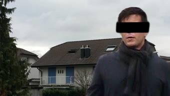 Der mutmassliche Täter Thomas N. und das Mordhaus in Rupperswil