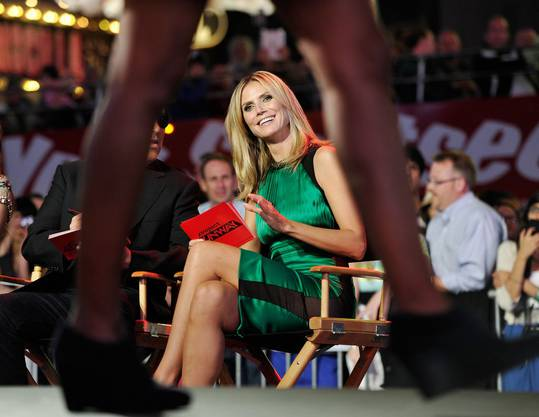 Heidi Klum als Moderatorin beim Projekt «Runaway»