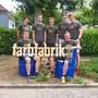 Jungwacht Blauring Windisch bauen eine doppelstöckige Beiz am Brugger Stadtfest