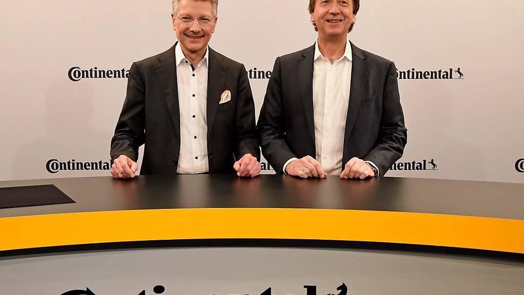 Continental-Chef Elmar Degenhart und Finanzchef Wolfgang Schaefer wollen dank Digitalisierung wachsen. (Archivbild).