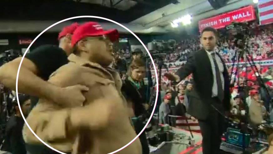 Trump-Anhänger attackiert BBC-Journalisten