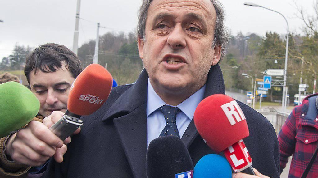 Michel Platini wehrt sich vor dem CAS in Lausanne