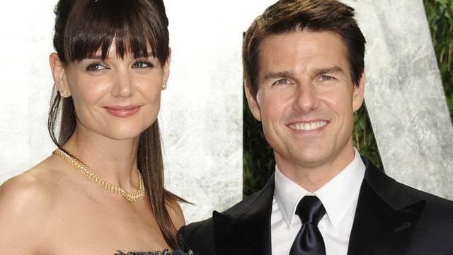 Katie Holmes und Tom Cruise - hier vor einem Jahr noch einigermassen glücklich vereint - haben jetzt auch nicht mehr dieselbe Agentur (Archiv)