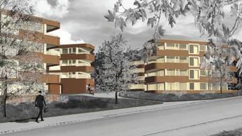 Visualisierung der geplanten Wohnüberbauung Im Park.
