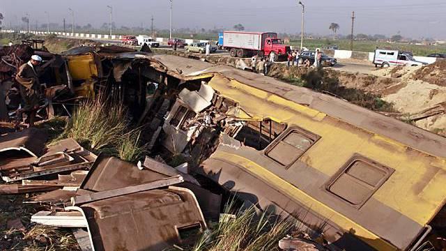 Die Unfallstelle südlich von Kairo