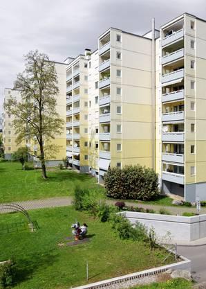 Der heutige Blick: Siedlung Sunnebüel der Ernst Göhner AG in  Volketswil, 2012 fotografiert.