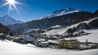 Blick auf das Dorf Sölden.