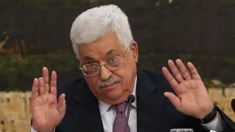 Basta! Das sagt Palästinenserpräsident Abbas in Richtung Israel und USA.