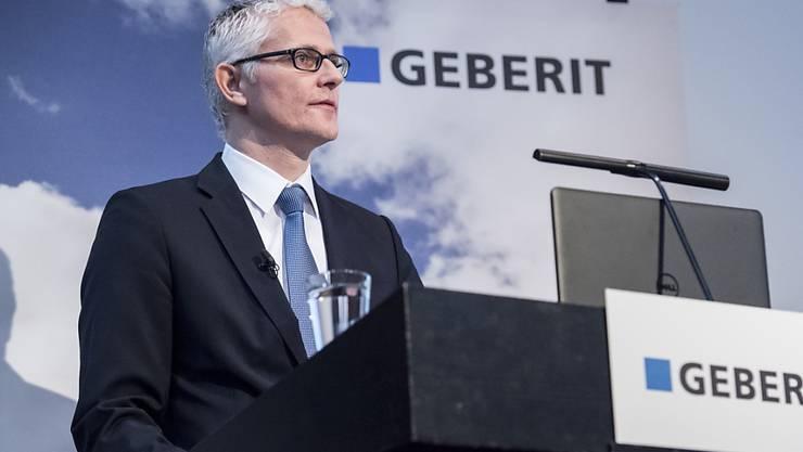 Geberit-Chef Christian Buhl kann für 2018 ein neues Rekordergebnis verkünden. (Archiv)