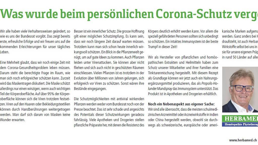 Was wurde beim persönlichen Corona-Schutz vergessen?