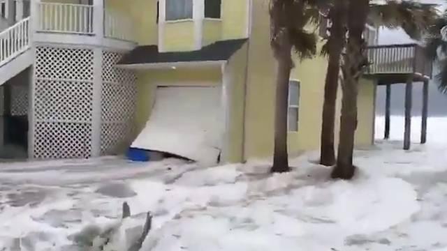 Hurrikan «Florence» richtet erste Schäden an