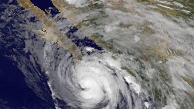 Hurrikan Jimena über Baja California