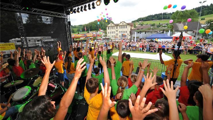 Das letzte Dorf- und Jugendfest in Uerkheim fand im Jahr 2016 statt. Archiv