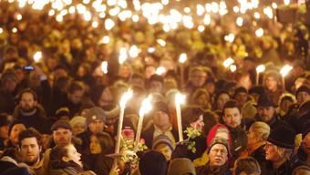 Zehntausende Menschen bei Gedenkfeier für Terroropfer in Kopenhagen