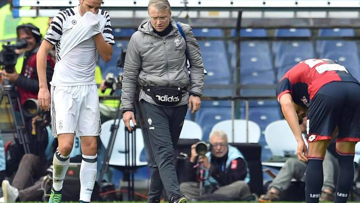 Leonardo Bonucci muss am Sonntag das Spielfeld verletzt verlassen