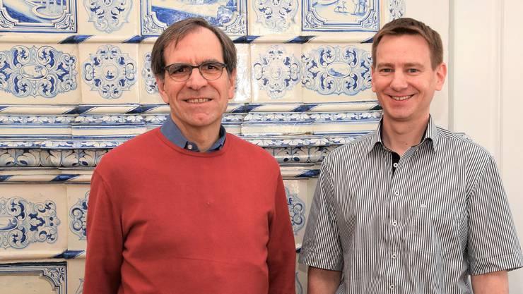 Vizeammann Leo Geissmann (links) undStefan Huber, Leiter der Abteilung Finanzen, präsentierten den Rechnungsabschluss 2018.