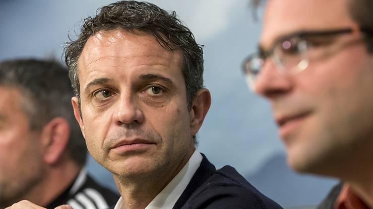 Bernhard Heusler (links) und Georg Heitz geben die FCB-Führung ab.