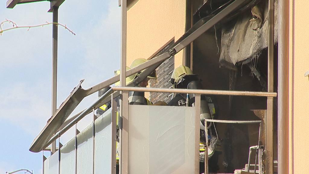 Ermatingen (TG): Brand auf Balkon in Mehrfamilienhaus
