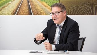 Bau- und Justizdirektor Roland Fürst (CVP) in seinem Büro: Der 54-Jährige ist seit 2013 Mitglied der Regierung. Im 2016 ist er erstmals Landammann.