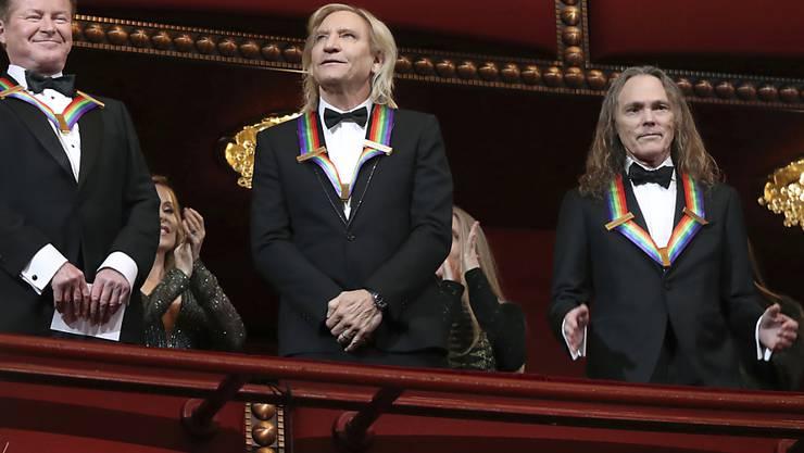 Stehen am Ende eines langen, musikalischen Weges: Don Henley, Joe Walsh und Timothy Schmit (von links) der Band The Eagles. (Archivbild)