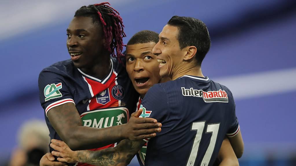 Die goldene Mitte: Kylian Mbappé führt Paris Saint-Germain im Cup zum Titel