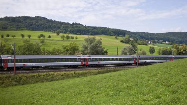 Die Reisenden mussten längere Zeit im Zug ausharren, bis Bahnspezialisten die defekte Fahrleitung sicherten und der Zug evakuiert werden konnte. (Symbolbild)