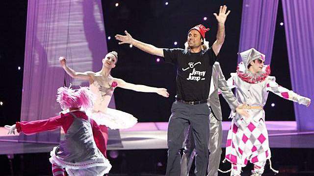 """Jimmy Jump"" beim Eurovision Song Contest"