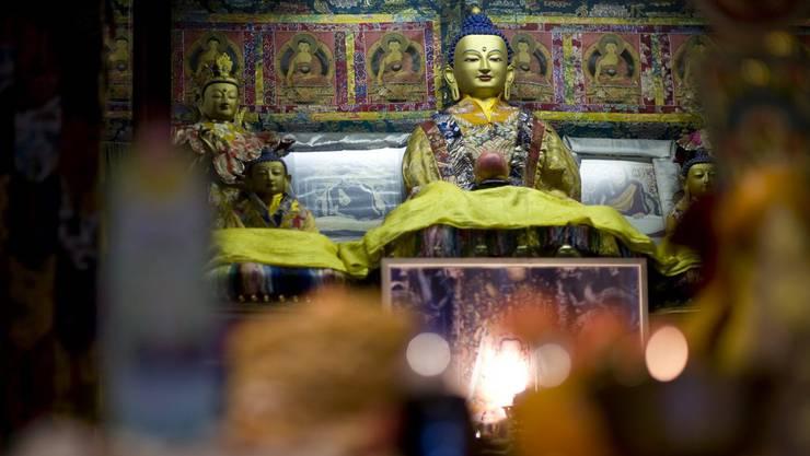 Tibeter feiern im Tibet-Institut in Rikon das Tibetische Neujahrsfest. Das Kloster wurde in den 60er-Jahren gegründet und ist wichtiger Treffpunkt für Tibeter in der Schweiz.