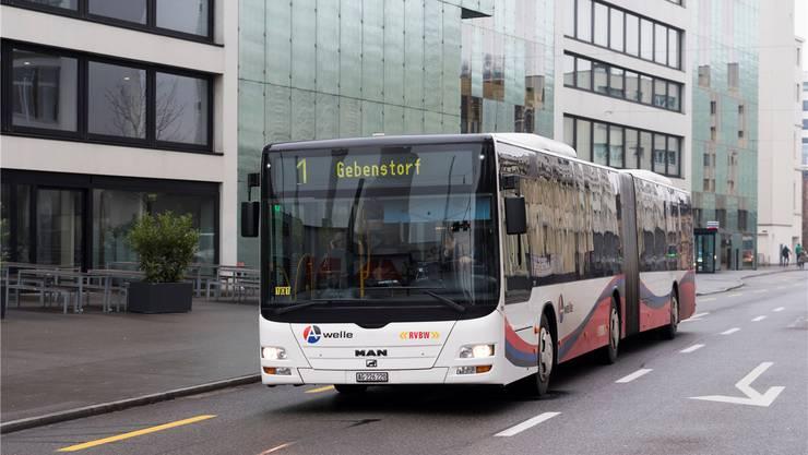 Die Regionalen Verkehrsbetriebe Baden-Wettingen (RVBW) wären bereit, die Verlängerung der Linie 1 via Gebenstorf bis zum Bahnhof Brugg zu planen. Alex Spichale