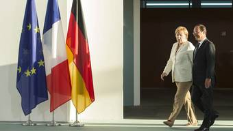 Angela Merkel und François Hollande in Berlin.