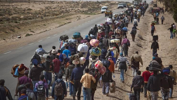 Die Flüchtlingsströme sind nicht nur bei der SVP Wahlkampfthema Nummer eins.