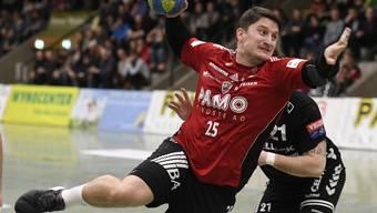 Der HSC Suhr Aarau spielt auswärts gegen die Kadetten Schaffhausen.