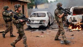 Französischen Truppen in Zentralafrika erhalten US-Unterstützung