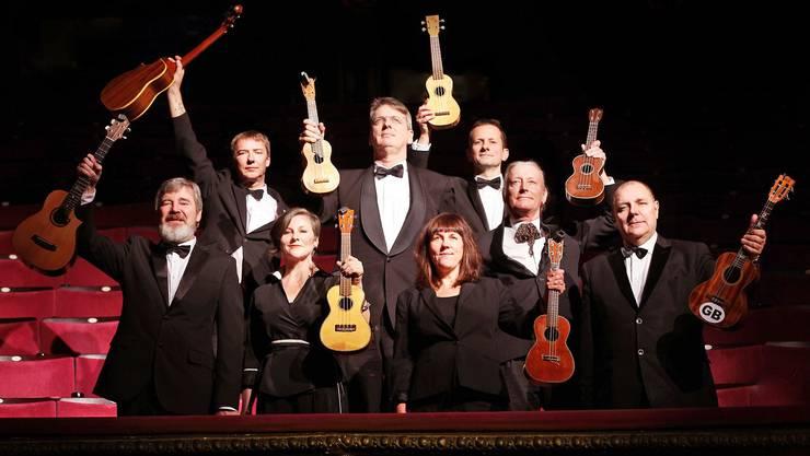 Das achtköpfige «Ukulele Orchestra of Great Britain».