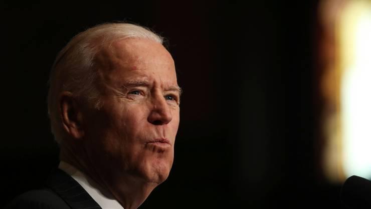Heikle Aufgabe: Muss sich von gewaltsamen Protestlern distanzieren, ohne seine Basis zu erzürnen: Joe Biden.