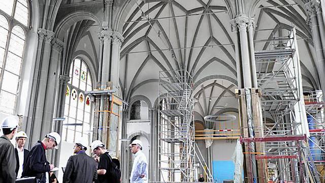 Baustelle im Landesmuseum (Archiv)