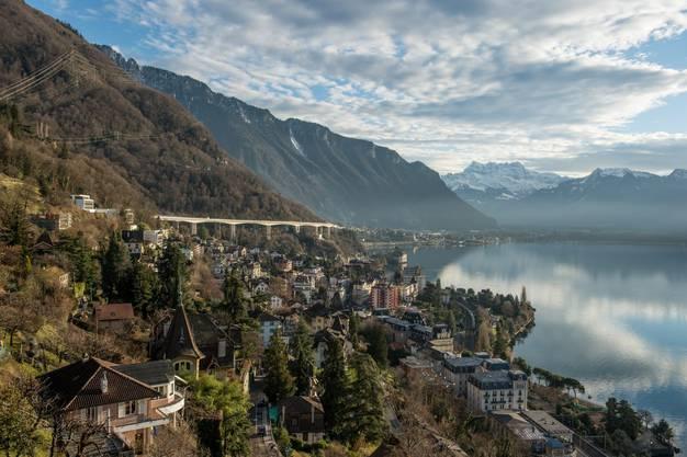 Traumkulisse: Blick von Montreux aus auf den Genfersee.