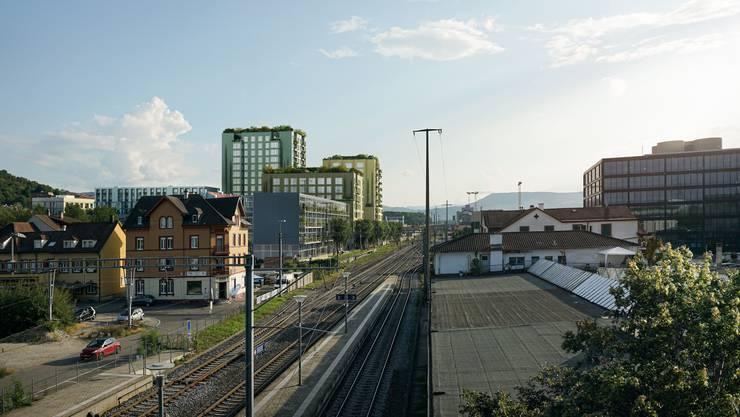 Grünes Wohnquartier: Visualisierung des VanBaerle-Areals.