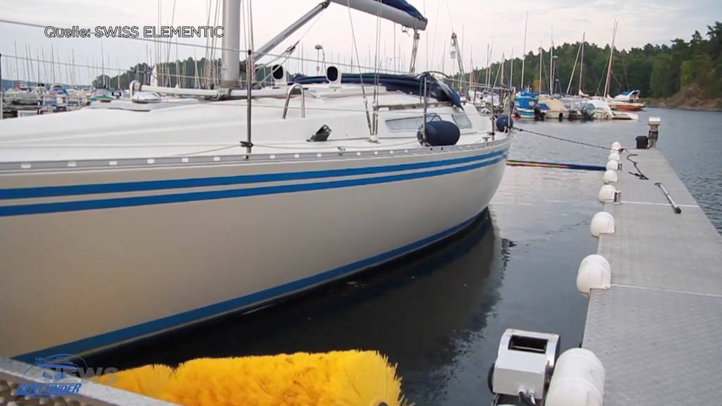Erste Bootswaschanlage der Schweiz eröffnet im Berner Oberland