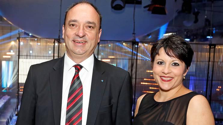 Markus Dieth mit seiner Frau Desirée Dieth.