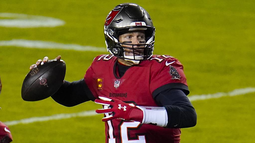 Tom Brady im Dress der Tampa Bay Buccaneers. Der Star-Quarterback spielte zuvor 19 Jahre bei den New England Patriots.