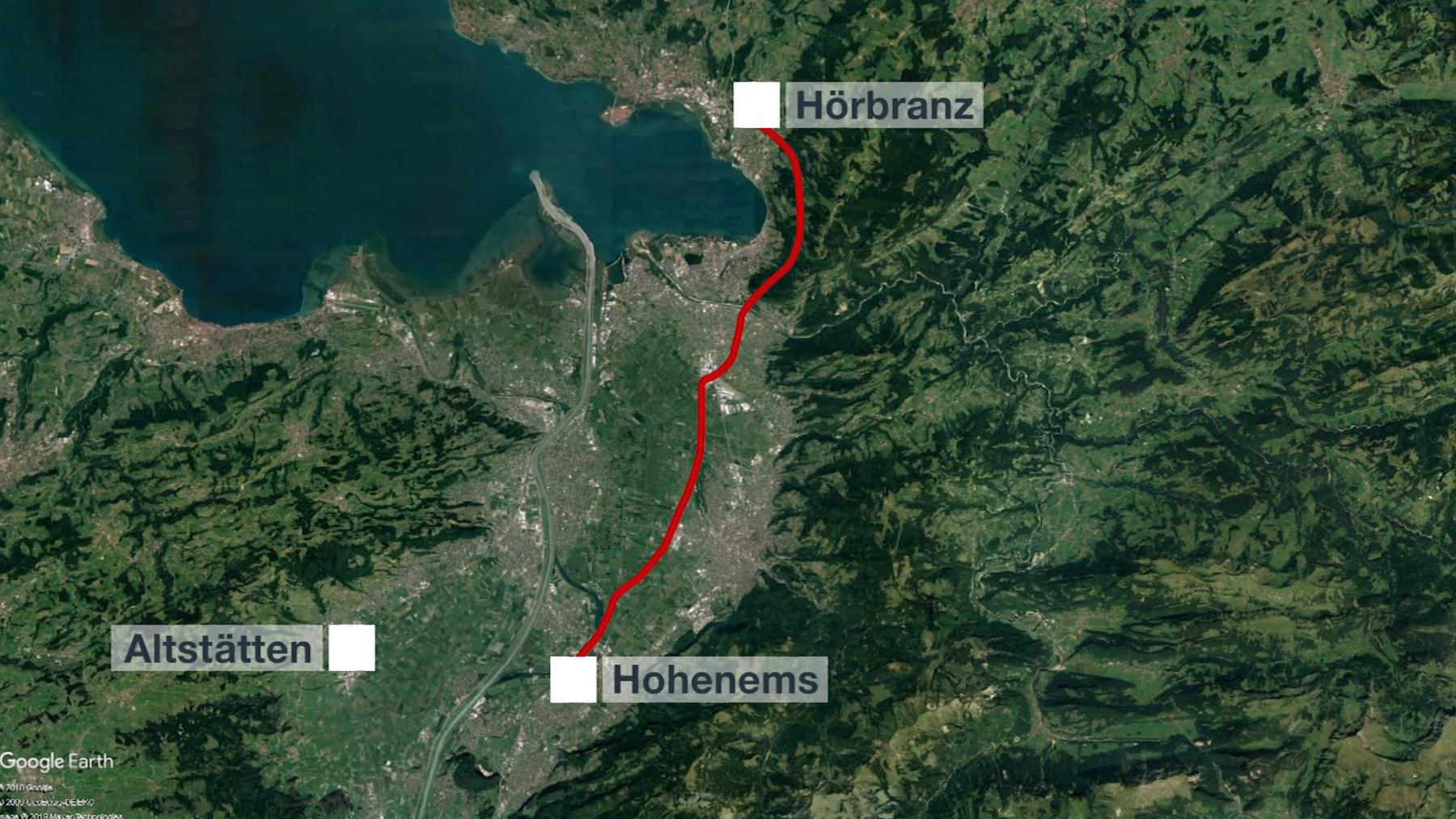 Autobahn Hörbranz-Hohenems Maut Grafik TVO